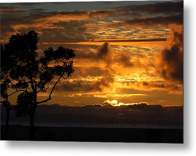 Huntington Beach Sunset Metal Print by Matt Harang