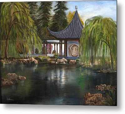 Huntington Chinese Gardens Metal Print by LaVonne Hand