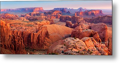 Hunts Mesa Panorama Metal Print by Inge Johnsson