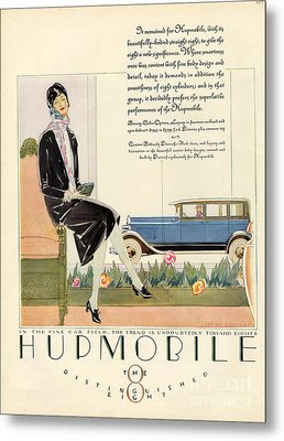 Hupmobile 1929 1920s Usa Cc Cars Womens Metal Print by The Advertising Archives
