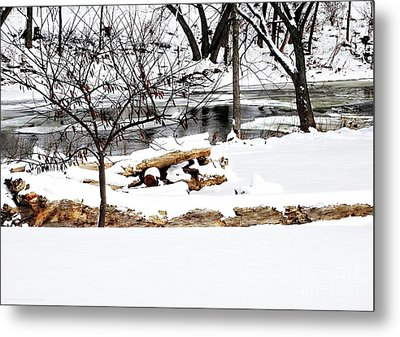 Huron River Metal Print by Gena Weiser