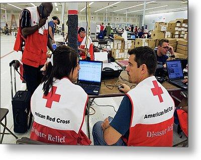 Hurricane Katrina Coordination Centre Metal Print