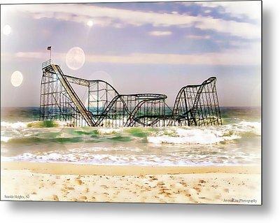 Hurricane Sandy Jetstar Roller Coaster Sun Glare Metal Print