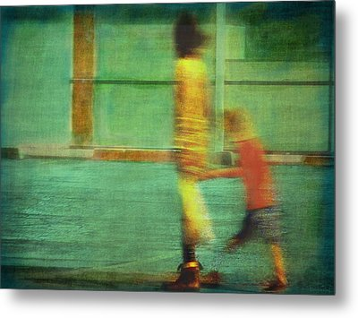 Hurry Child Hurry  Metal Print by Lin Haring