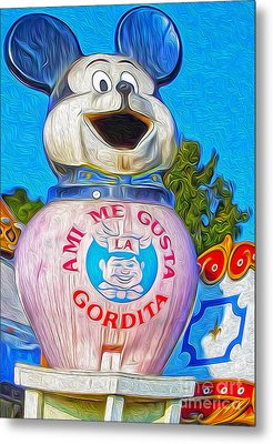 Husky Boy Mouse-cot Metal Print by Gregory Dyer