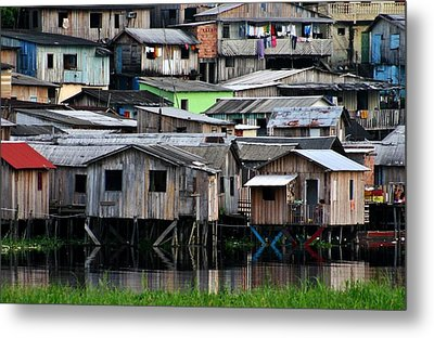Metal Print featuring the photograph Huts by Henry Kowalski