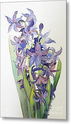 Hyacinthus Metal Print by Shirin Shahram Badie