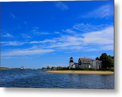 Metal Print featuring the photograph Hyannis Harbor by Amazing Jules