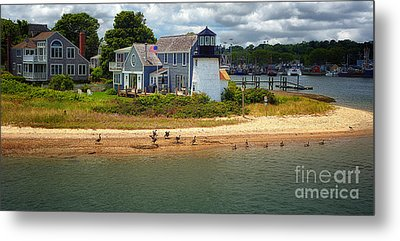 Hyannis Light Migrating Geese Metal Print by Jack Torcello