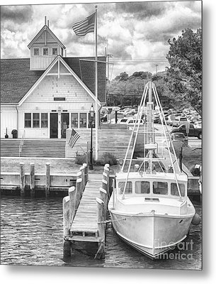 Hyannis The Coastguard's Cutter Metal Print by Jack Torcello