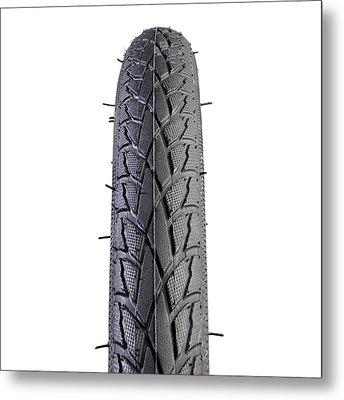 Hybrid Bike Tyre Metal Print by Science Photo Library