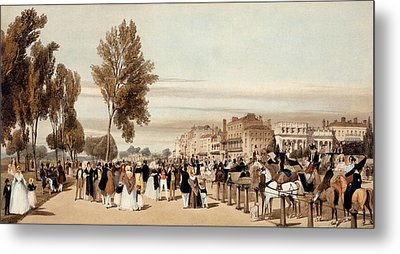 Hyde Park, Towards The Grosvenor Gate Metal Print