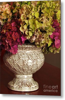 Hydrangea Bouquet   Metal Print by Deborah Johnson