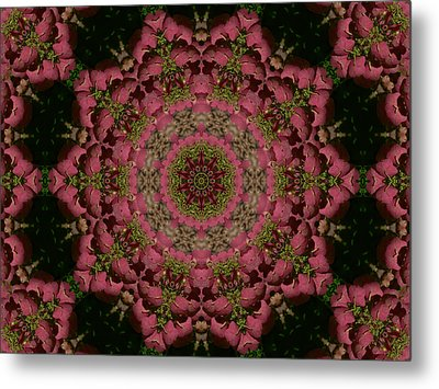 Metal Print featuring the photograph Hydrangea Mandala Mauve by MM Anderson