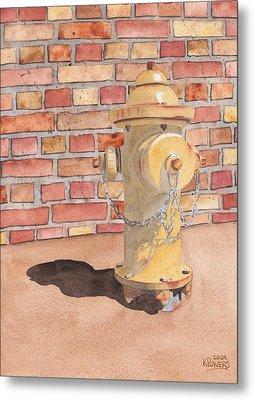 Hydrant Metal Print by Ken Powers