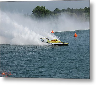 Hydroplane Gold Cup Race Metal Print by Michael Rucker