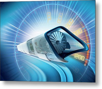Hyperloop Train Metal Print