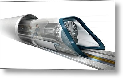 Hyperloop Transport Metal Print