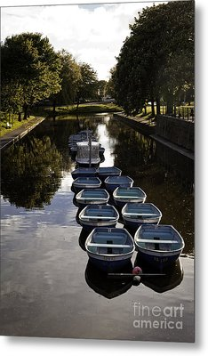 Hythe Military Canal Kent Metal Print by Lesley Rigg