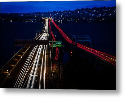 I-90 Light Speed Travelers Metal Print by Brian Xavier