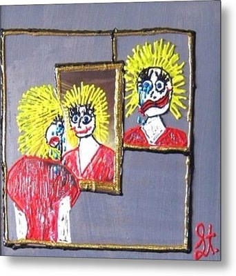 Metal Print featuring the painting I Am Bipolar 2 by Lisa Piper