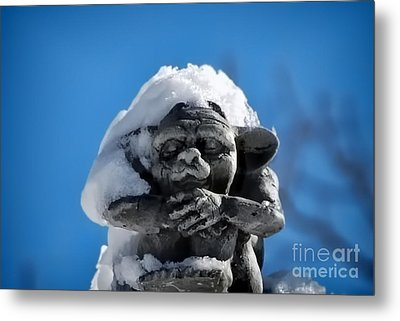 I Am Cold Metal Print by Alexandra Jordankova