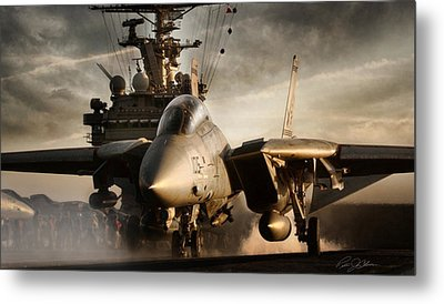 I Am Legend F-14 Metal Print by Peter Chilelli