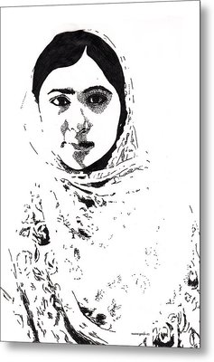 I Am Malala. Metal Print