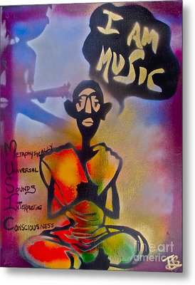 I Am Music #1 Metal Print by Tony B Conscious
