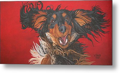Metal Print featuring the painting I Am Sooooooo Happy To See You by Wendy Shoults