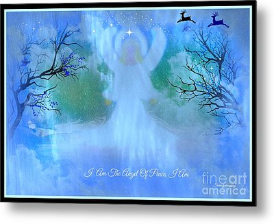 I Am The Angel Of Peace I Am Metal Print by Sherri's Of Palm Springs