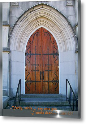 Metal Print featuring the photograph I Am The Door by Larry Bishop
