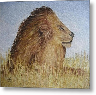 Metal Print featuring the painting I Am The King by Kelly Mills