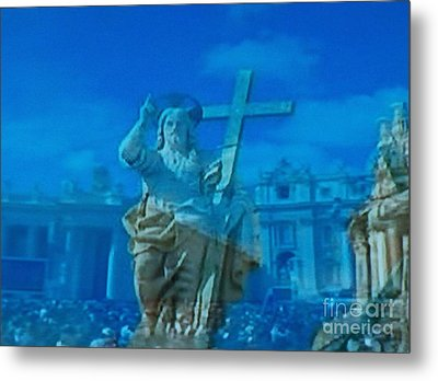 I Am The Resurrection And The Life Metal Print by Judy Via-Wolff