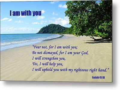 I Am With You Beach Scene Metal Print