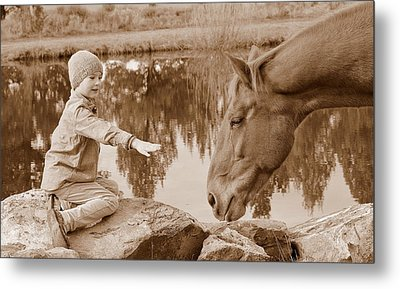 I Could Use A Friend Metal Print by Barbara Dudley