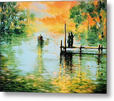 I Didn't Pay The Ferryman Metal Print by Andrew Hewkin