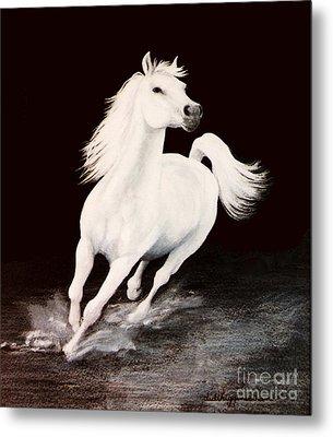 I Dreamed Him White Metal Print by DiDi Higginbotham