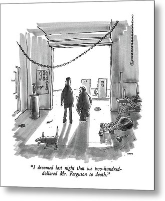 I Dreamed Last Night That We Two-hundred-dollared Metal Print by George Booth