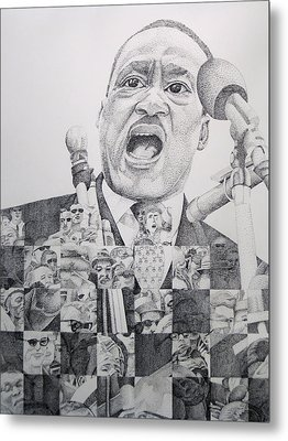 Metal Print featuring the drawing I Have A Dream Martin Luther King by Joshua Morton