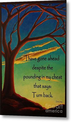 Metal Print featuring the digital art I Have Gone Ahead by Janet McDonald
