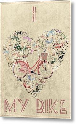 I Heart My Bike Metal Print by Andy Scullion