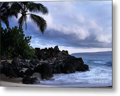 I Ke Kai Hawanawana Eia Kuu Lei Aloha - Paako Beach Maui Hawaii Metal Print by Sharon Mau
