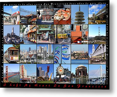 I Left My Heart In San Francisco 20150103 Horizontal With Text Metal Print