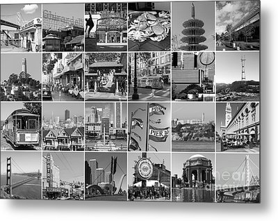 I Left My Heart In San Francisco 20150103 Horzontal Bw Metal Print