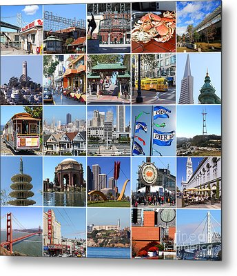 I Left My Heart In San Francisco 20150103 Metal Print by Wingsdomain Art and Photography