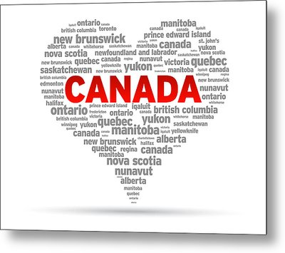 I Love Canada Metal Print by Aged Pixel