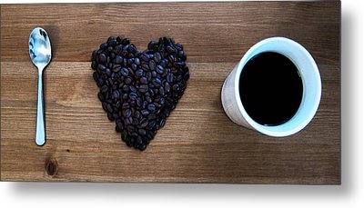 I Love Coffee Metal Print by Nicklas Gustafsson
