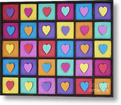 I Love Colour Metal Print by Tim Gainey
