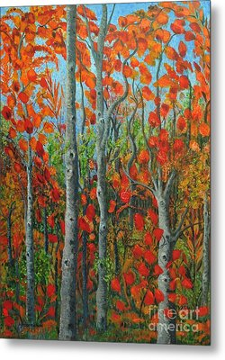 I Love Fall Metal Print by Holly Carmichael